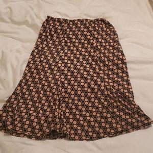 Pink & brown skirt